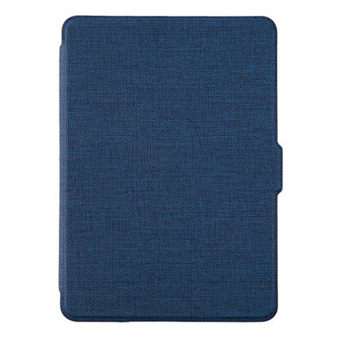 YKS Kindle Paperwhite Cover in PU pelle Custodia - con Chiusura Magnetica Compatibile con 2013-2016 di Kindle Paperwhite - Blu marino