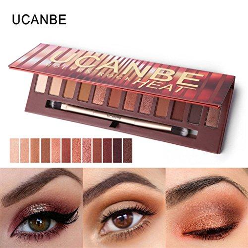 Vovotrade 12 Farbe Kosmetik Matte Lidschatten Creme Augen Schatten Make-up Palette Schimmer Set (12...