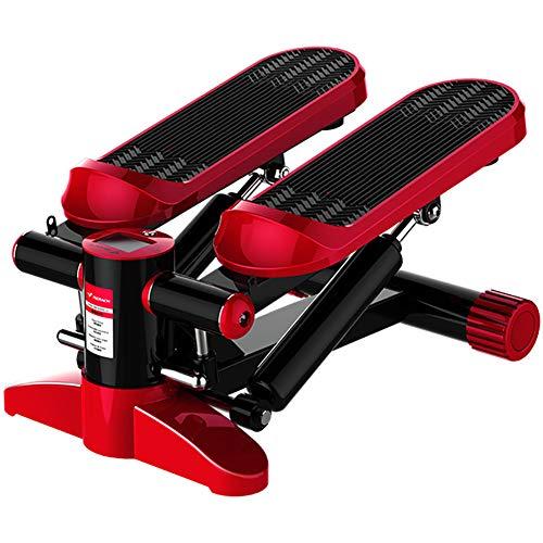 LYzpf Stepper Máquinas de Step con Cordón Fitness Stair Portátil Mini Steppers Movimiento Equipo de Entrenamiento Físico Steps para Hacer Ejercicio en la Oficina Casa,Red