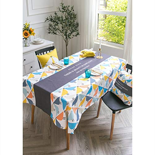 WSJIABIN Home Decor Tablecloth Waterproof and Oil-Proof Disposable Wash-Proof Anti-Scald Tablecloth Tablecloth Nordic Color Semicircle