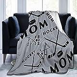 Cyloten Blanket Hockey Mom Fleece Blanket Foldrable Throw Blanket Washable Couch Sofa Fuzzy Blanket Reversible Plush Blanket Beach Blanket for Home Office