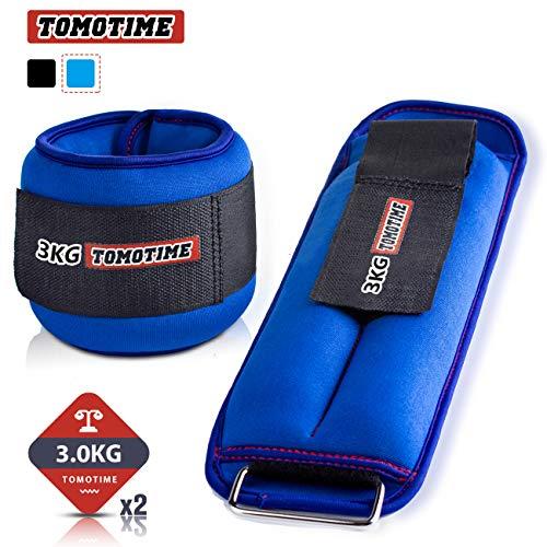 ソフトアンクルウェイトリストウェイト0.5kg1kg1.5kg2kg2.5kg3kg2個入手足両用エクササイズ体幹トレーニング洗濯可ABJ-GT005-SJJY(ブルー,1kg×2)
