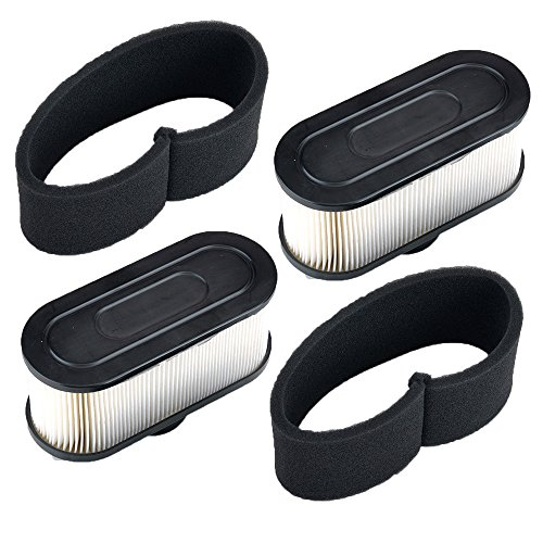Hipa (Pack de 2 Filtro de Aire con Pre Filtro para Motor de