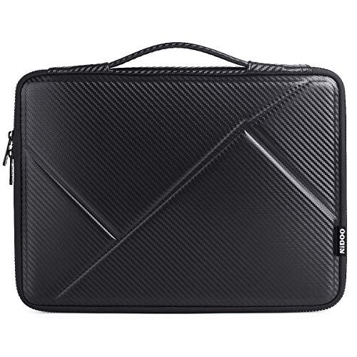 NIDOO 14 inch Laptop sleeve case Notebook Bag Protective Carrying Handbag for 14' Lenovo Ideapad 720S / ThinkPad T480s E480 E485 L480 / HP ProBook 645 G4 / 14' Dell 7490 E5470, Dark gray