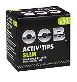 OCB - Filtros de carbón Activo (150 Unidades, 7 mm, 3 Paquetes de 50 Unidades)