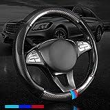 Carbon Fiber Leather Sport Car Steering Wheel Cover...