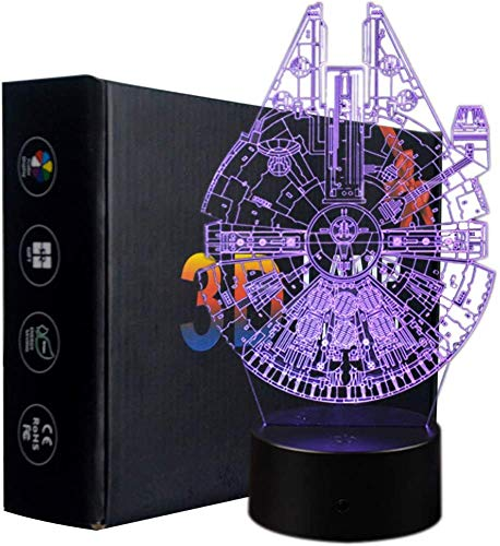 Ray-Velocity 3D Optische Illusions-Lampen LED 7 Farben Touch-Schalter Ändern Nachtlicht Für Schlafzimmer Home Decoration Hochzeit Geburtstag Weihnachten Valentine Geschenk (Star Wars Serie)