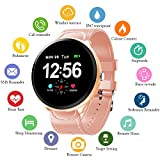 Smart Watch Fitness Tracker with Heart Rate Monitor & Blood Pressure Monitor for Android & iOS Waterproof Activity Tracker with Calorie Counter & Pedometer Smart Watch for Women Men