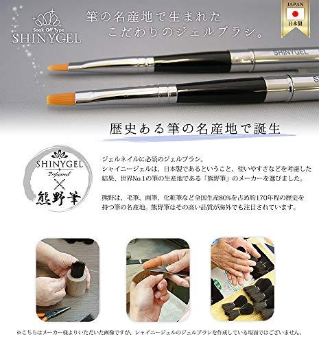 ワールドビューティーワークスSHINYGEL(シャイニージェル)『ジェルブラシ<ラウンド型>(shinygelbrush2)』