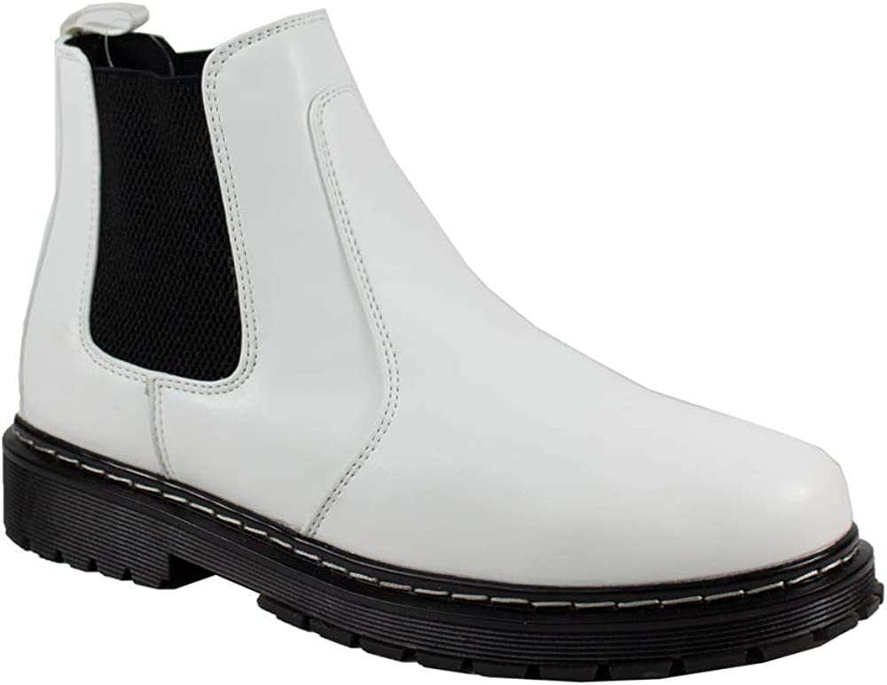 New life 2020 IN Gila Women's Chelsea unisex Boots Pull-o Menmade Combat Leather