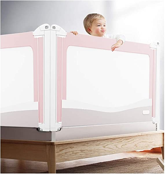 XJJUN Bed Rail Vertical Lifting Bed Guard Big Bed Anti Fall Bed Guardrail For Breathable Mesh Suitable For Children 4 Colors Color Pink Size 200x85 100CM