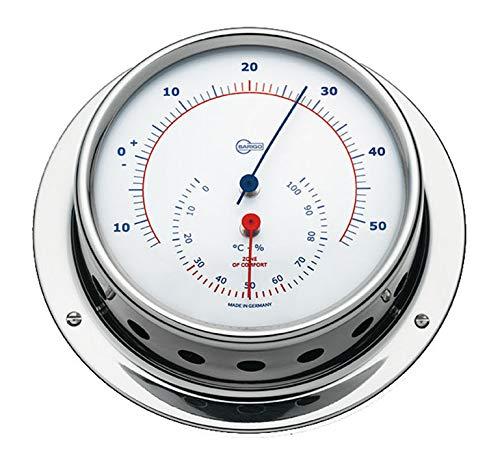 Barigo Sky termómetro Marino higrómetro Acero Inoxidable Pulido 110mm