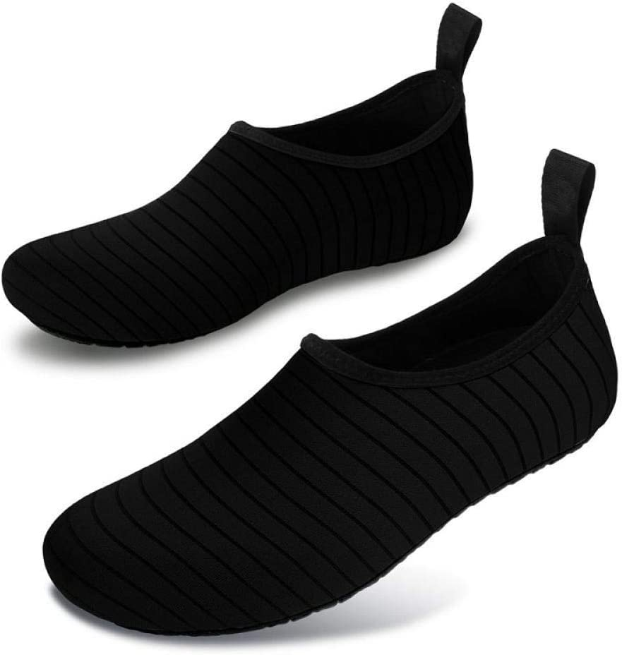 Men'S Water Shoes Flat Bottom Lazy Shoes Breathable Casual Beach Barefoot Shoes Large Size 36-49 09 blue