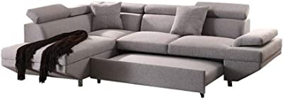 Surprising Amazon Com Bergamo Sectional Sofa W Sleeping Option In Pabps2019 Chair Design Images Pabps2019Com