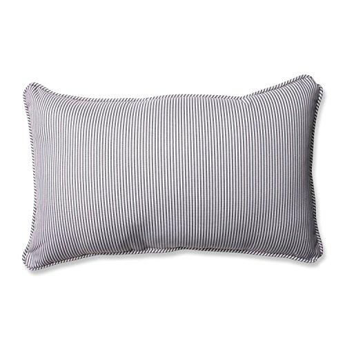 Pillow Perfect Oxford Charcoal Rectangular Throw Pillow,Grey