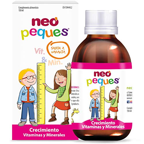 Neo Peques | Jarabe Infantil para Niños Crecimiento Fuerte y Sano 150 ml | A Base de Vitaminas y Minerales | Tomar 0,5 ml/kg de Peso Corporal | Dosis Diaria Máxima 20ml | Apto a partir de los 6 meses