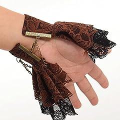 BLESSUME Steampunk Bracelet Gear Victorian Lace Accessories (J) #5