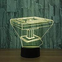 Tatapai 3DゴーストライトリモコンMahjongデスクナイトライトUSBLed7色変更タッチランプベッドサイド装飾スイッチテーブルランプおもちゃキッズLEDナイトライト