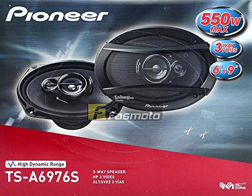 """Pioneer TS-A6976S A Series 6"""" X 9"""" 550 Watts Max 3-Way Car Speakers Pair with Carbon and Mica Reinforced Injection Molded Polypropylene (IMPP) Cone Construction"""