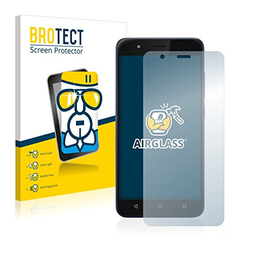 BROTECT Panzerglas Schutzfolie kompatibel mit Gigaset GS270 Plus - AirGlass, extrem Kratzfest, Anti-Fingerprint, Ultra-transparent