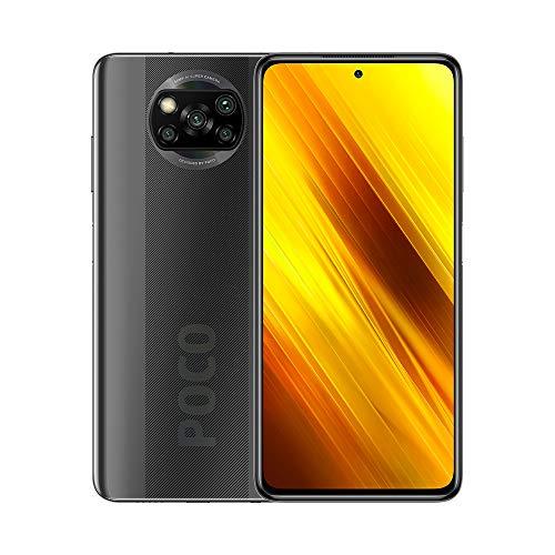 "Xiaomi Poco X3 Smartphone,6GB RAM 128GB ROM Teléfono,6.67"" FHD DotDisplay Qualcomm Snapdragon 732G Octa-Core Procesador con NFC Cámara Cuádruple (64MP+13MP+2MP+2MP) Versión Global(Gris)"