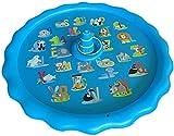 GLLP Splash Pad para niños, 170 cm, inflable para juegos de agua, juguetes de verano al aire libre, rociador para niños Splash Play Mat y piscina para juegos divertidos, aprendizaje y fiesta