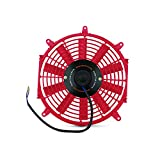 Mishimoto MMFAN-12RD Ventilador eléctrico fino, 30,5cm, color rojo