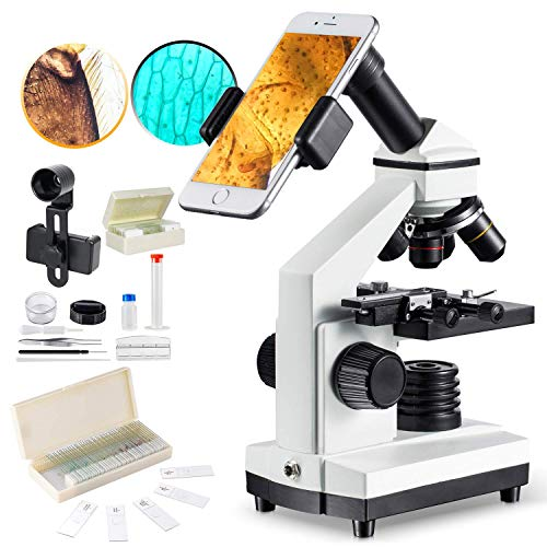 1000x Microscope for Students Plus 50 Pcs Prepared Slides for Microscope