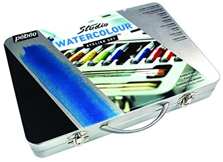 PEBEO 300610 Watercolor Metal Atelier Collection Case Art Paint,