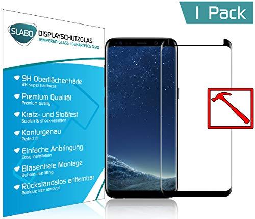 Slabo Premium Pellicola Protettiva in Vetro Temperato per Samsung Galaxy S8 Tempered Glass Crystal Clear Graffi Fino a 9H