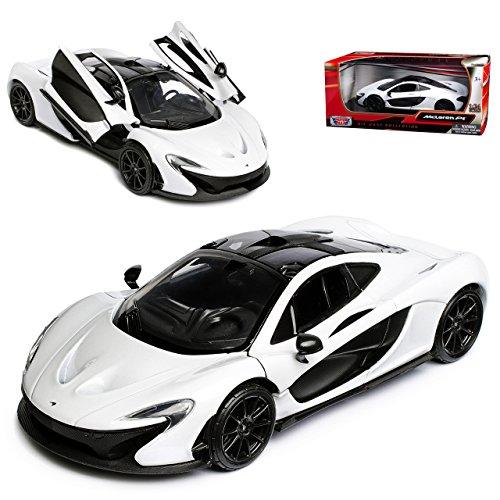Motormax McLaren P1 Coupe Weiss Schwarz Ab 2013 1/24 Modell Auto