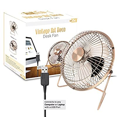 Usb small fan Mini Silent cooling Fan for Laptop PC Plug and Play edition with 360 Rotation - Aluminum 6 inch