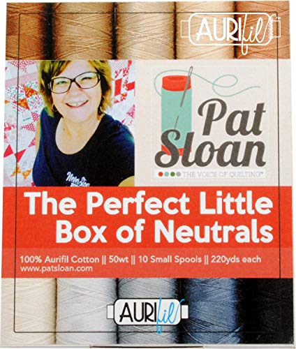 Pat Sloan PS50PN10 The Perfect Little Box of Neutrals Aurifil Garnset 10 kleine Spulen 50 Gewicht