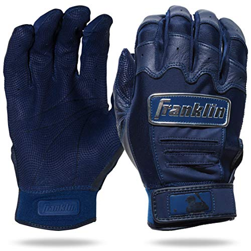 Franklin Sports Luvas de Rebatedor CFX Pro Full Color Chrome Series CFX Pro Full Color Chrome Rebatedor Luvas, Azul marinho, Adulto Grande