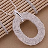LIUWW Collar de Plata esterlina 925 Anillo Colgante de joyería de Plata 925