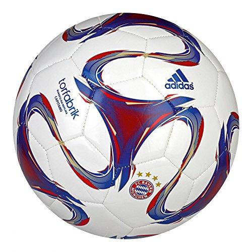 adidas Fußball FC Bayern Torfabrik 2014 Capitano, White/Fcb True Red/Collegiate Royal/Light Football Gold, 5, F93531