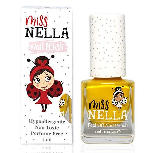 Miss Nella SUN KISSED- Spezieller Gelb Nagellack für Kinder, Peel-Off-Formel, wasserbasiert und...