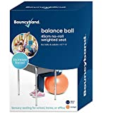 Balance Ball - No-Roll Weighted Seat is a Flexible Chair for School, Office or Home (Small, Orange)
