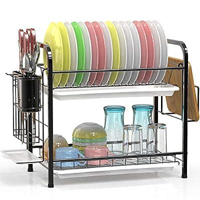 Dish Drying Rack, Veckle 2 Tier Dish Rack 304 S...