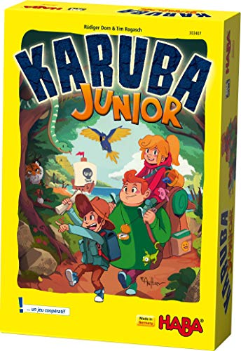 HABA- Karuba Junior Un Jeu d'arrangement coopératif pour Les 4-8 Ans (Made in Germany), 303407