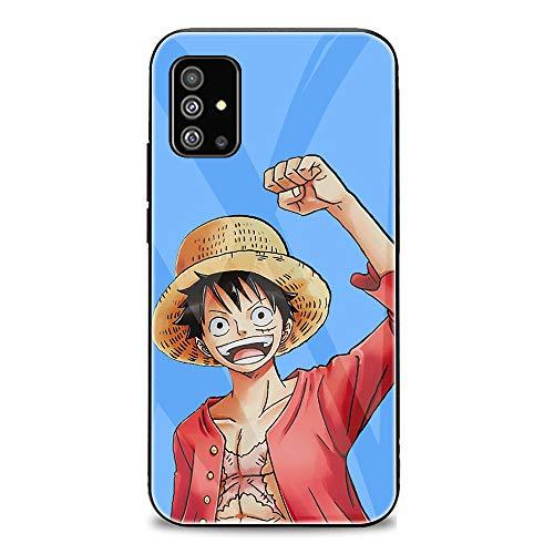 FUTURECASE Anime Zoro Ace Luffy - Carcasa de cristal templado para Samsung Galaxy A01, A10, A10S, A10E, A11, A12, A20, A20E, A20S, A31, A21, A41, A42, A21S (6, Samsung A20)
