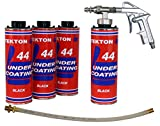 Tekton44 Undercoating for Vehicles Black Undercoating Kit Includes 4 Liters, 1 Spray Gun, 1 Spray Wand