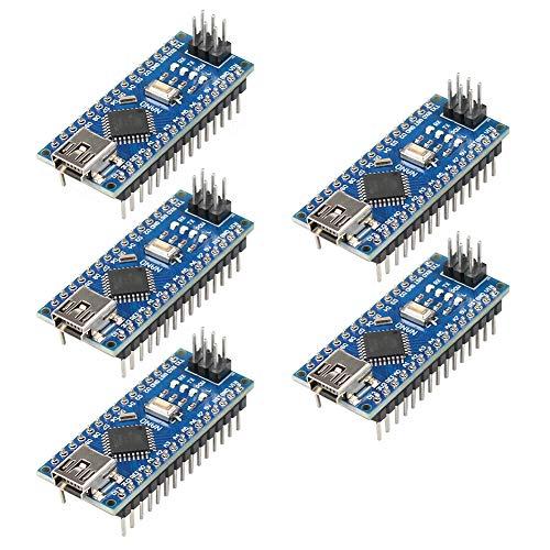 IZOKEE 5 Stück Mini Modul Entwicklerboard ATmega328P CH340G Chip 5V 16MHz für Arduino Nano