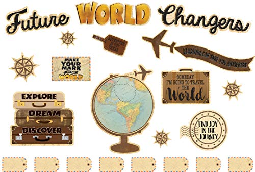 Teacher Created Resources Travel The Map Future World Changers Bulletin Board (TCR8623)