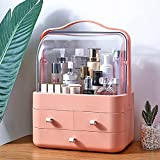 LZDMY Cosmetico dell' Organizzatore di Immagazzinaggio, Make Up dell' Organizzatore di Immagazzinaggio Cosmetici Scatola Organizer Cosmetici per Bagno Desktop (Rosa)