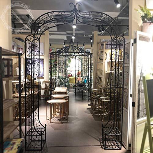 Arco Jardin, Cenador de Jardín, Enrejado de Metal para Plantas Trepadoras, Rosas de Arco de Soporte, 173 Cm X 38 Cm X 230 Cm, Decoración de Boda (Negro)