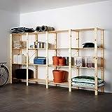 HEJNE 4 secciones/estantes 307x50x171 cm madera blanda