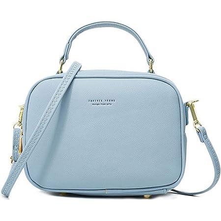 WANYIG Handy Umhängetasche Damen PU Leder Schultertasche Klein Reißverschluss Handtasche Crossbody Bag Frauen Brieftasche Cross-Body Tasche
