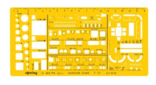 Rotring - Plantillas combinadas para arquitectos (1:100)