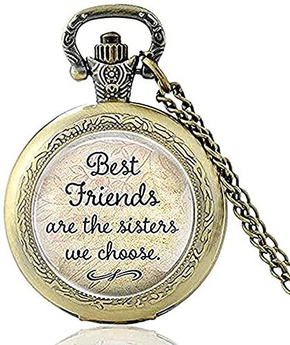 LBBYLFFF Collar Collar de Regalo de cumpleaños Gran Insignia de la Escuela Reloj de Bolsillo Collar Vintage con Serpiente Retro Excelente para Mujeres y Hombres con Cadena de Regalo